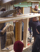 build a timber frame wall