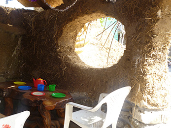 inside cob play house