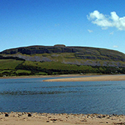 strandhill beach and knocknarea