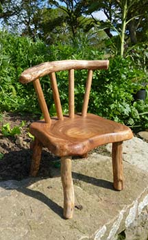 natural edge wood chair
