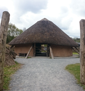 crannog in the heritage park