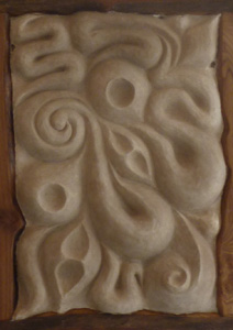 mud and wood panel