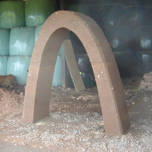 rammed earth arch