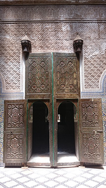 carved double door