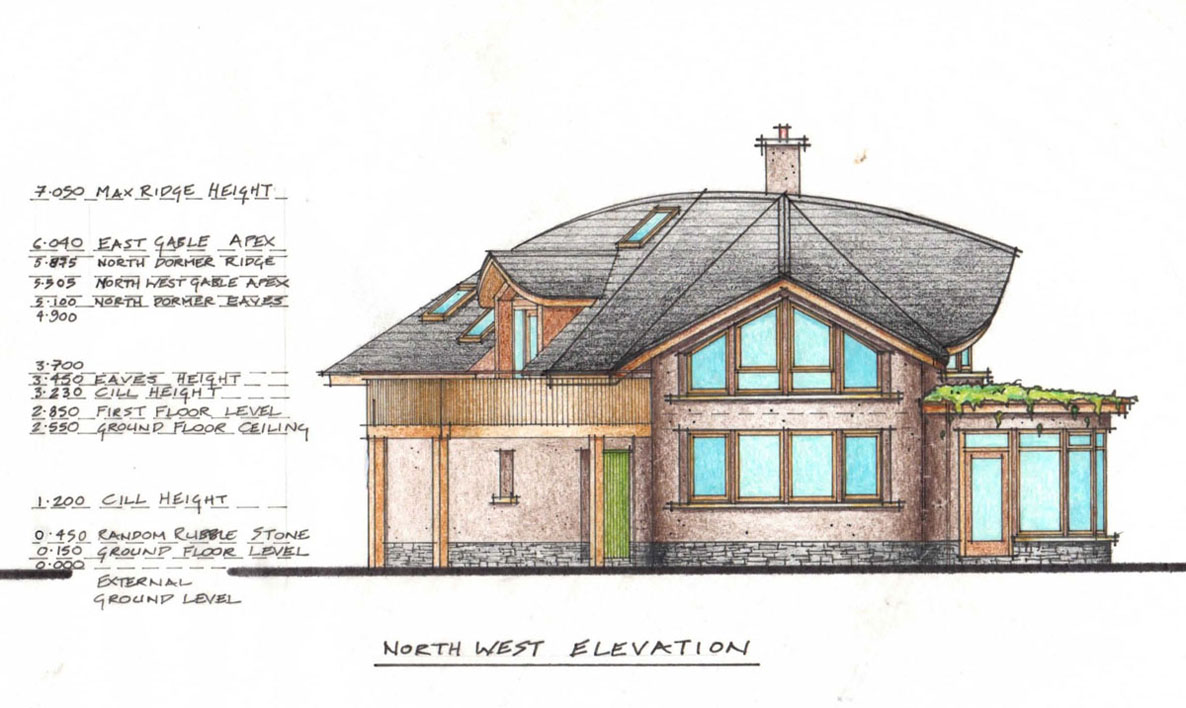 northwest elevation