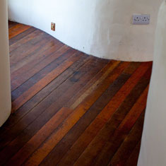 salvaged floorboards