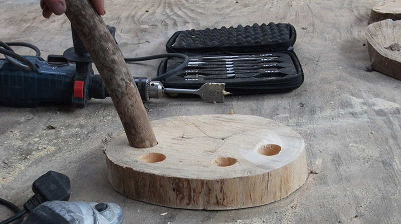 making a stool